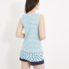 Moha Longline Print Vest Light Cream