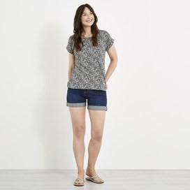 Paw Paw Printed Jersey T-Shirt Indigo