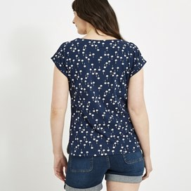 Paw Paw Printed Jersey T-Shirt Maritime Blue