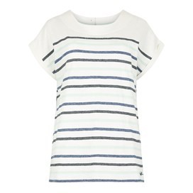 Barberry Stripe Slub Jersey T-Shirt Denim