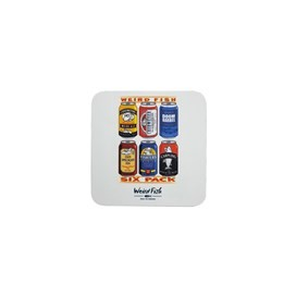 Drew 6 Pack Design Coaster White