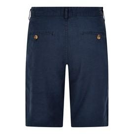 Byar Linen Blend Shorts Dark Navy