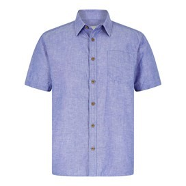 Lanark Short Sleeve Linen Shirt Denim