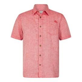 Lanark Short Sleeve Linen Shirt Dark Red
