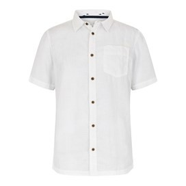 Nevis Short Sleeve Linen Shirt Dusty White
