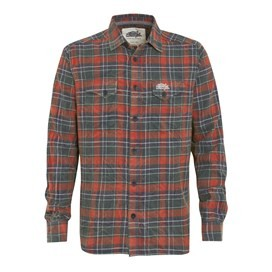 Dawn Long Sleeve Check Shirt Evergreen
