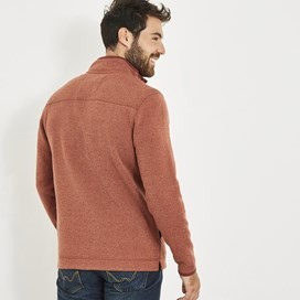 Stowe 1/4 Zip Soft Knit Fleece Brick Orange