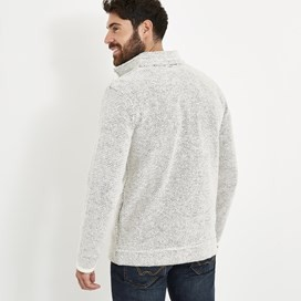 Birch Full Zip Lined Macaroni Sweatshirt Ecru