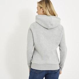Anya Branded Popover Hoody Frost Grey Marl