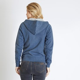 Corinne Branded Zip Through Hoody Dark Navy