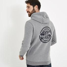 Stein Wf Surf Brand Popover Hoodie Grey Marl