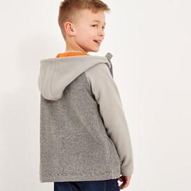 Hardy Full Zip Textured Fleece Grey