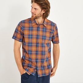 Charter Short Sleeve Check Shirt Pumpkin