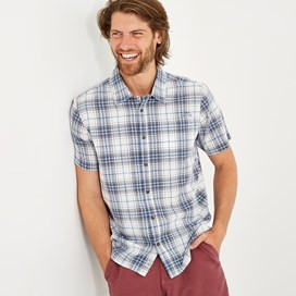 Charter Short Sleeve Check Shirt Dusty White