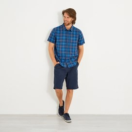 Charter Short Sleeve Check Shirt Aztec Blue