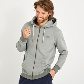 Bruno Branded Full Zip Hoody Gunmetal Marl