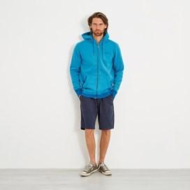 Bruno Branded Full Zip Hoody Lagoon Blue Marl