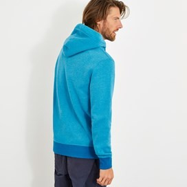 Bruno Branded Full Zip Hoody Lagoon Blue Marl