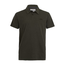 Quay Branded Polo Dark Olive Marl