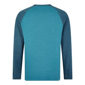 Askill Plain Long Sleeve T-Shirt Blue Jay Marl