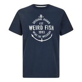 Stay True Jacquard Graphic T-Shirt Navy