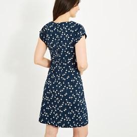 Tallahassee Printed Jersey Dress Maritime Blue