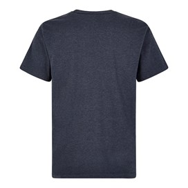 Fished Plain Branded T-Shirt Navy Marl