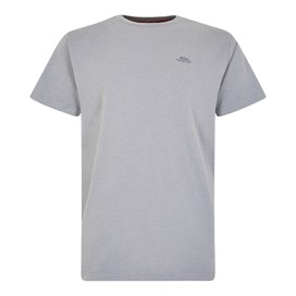 Fished Plain Branded T-Shirt Gunmetal Marl