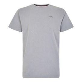 Fished Plain Branded T-Shirt Gunmetal Marl