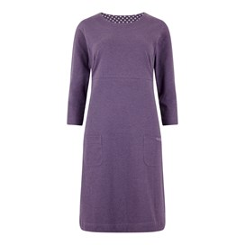 Starburst Marled Single Jersey Dress Dewberry Marl