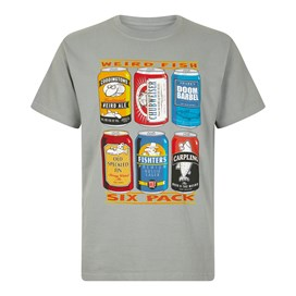6 Pack Beer Cans  Artist T-Shirt Gunmetal