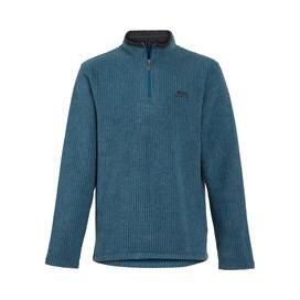 Newark 1/4 Zip Grid Fleece Sweatshirt Deep Sea Blue