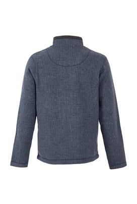 Newark 1/4 Zip Grid Fleece Sweatshirt Navy