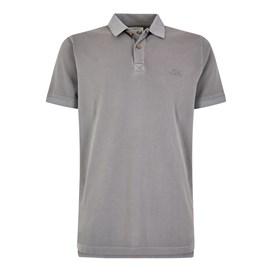 Lenny Plain Cotton Polo Shirt Gunmetal
