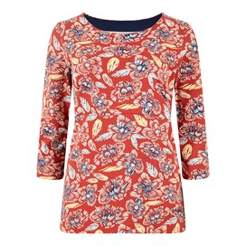 Pinto Printed Jersey T-Shirt Chilli Red