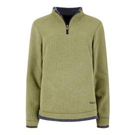 Beyonce 1/4 Zip Grid Fleece Sweatshirt Pear