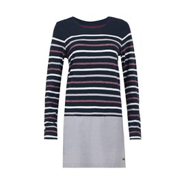 Alta Striped Jersey Tunic Dark Navy