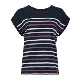 Barberry Stripe Slub Jersey T-Shirt Dark Navy
