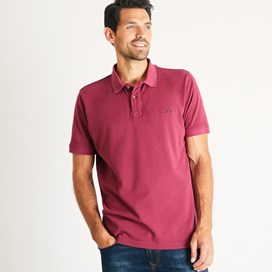 Lenny Plain Cotton Polo Shirt Pinot Wine