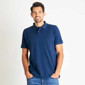 Lenny Plain Cotton Polo Shirt Navy