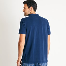 Lenny Plain Cotton Polo Shirt Navy