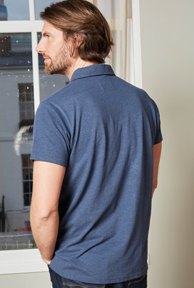 Quay Branded Polo Shirt Navy Marl