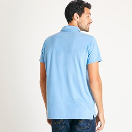 Quay Branded Polo Shirt Copen Blue Marl
