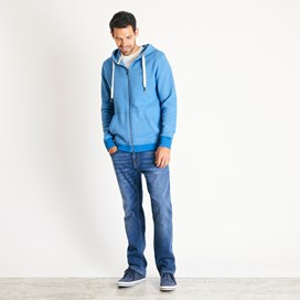 Bruno Branded Full Zip Hoodie Copen Blue Marl
