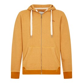 Bruno Branded Full Zip Hoodie Saffron Marl