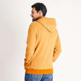Kylian Graphic Print Hooded Sweatshirt Saffron Marl