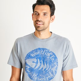 Woodcut Branded T-Shirt Gunmetal Marl