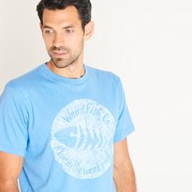 Woodcut Branded T-Shirt Copen Blue Marl