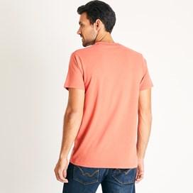 Woodcut Branded T-Shirt Dark Rust Marl