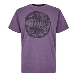 Woodcut Branded T-Shirt Light Grape Marl
